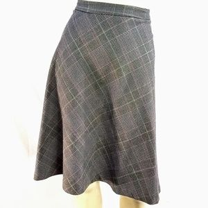 Adrienne Vittadini Plaid Prep Circle Flare Skirt 6